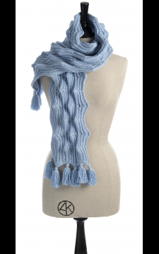 Crest of a Wave Scarf Crochet Pattern for Kids & Adult PDF