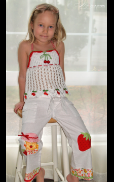 Fruity Fun. Cherry Top Sizes 2-12 PDF eBook Pattern Crochet