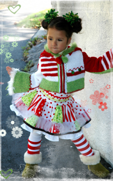 Christmas Jacket Knit/Crochet Sizes 2-12 PDF eBook Pattern