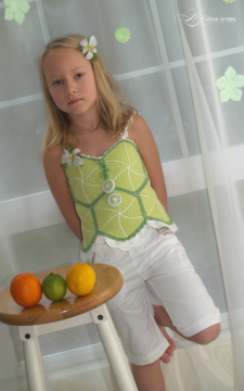 Fruity Fun2. Citrus Top Corset Sizes 2-12 PDF eBook Pattern Crochet
