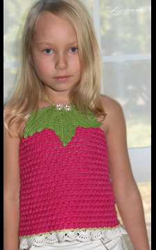 Fruity Fun 2. Raspberry Top Sizes 2-12 PDF eBook Pattern Crochet