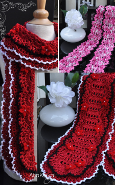 Sassy Chic Scarf with 2 edgings Crochet PATTERN/eBooK PDF