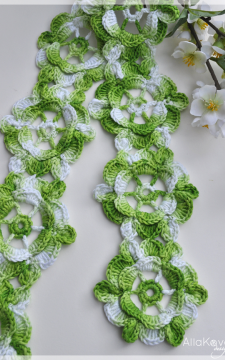 Spring Fling Scarf Crochet Pattern/Ebook PDF