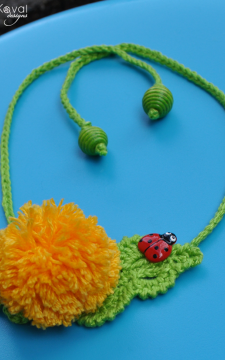 Garden Party. DANDELION Pin/Headband Crochet Pattern/eBook