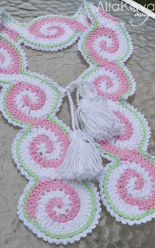 Celtic Pink Scarf Crochet Pattern Crochet PDF/eBook