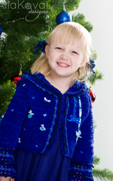 Royal Blue. Sonia Crocheted Jacket Sizes 2-12Y Pattern/eBook/PDF