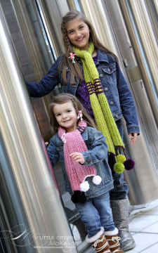 Paint The Town. Hand Knitted Scarf Baby to Adult Pattern/PDF/eBook