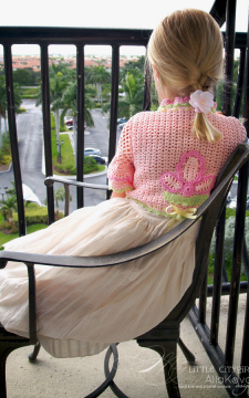 Sunlit Rose Crocheted Bolero Sizes 2-12 years Pattern in PDF format ONLY!