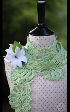 Gardenia Crocheted Scarf Pattern for Kids and Adult  PDF/eBook