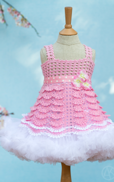 Sakura Top Crocheted Pattern Sizes 2-12 in PDF format ONLY!