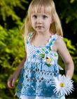 Forget Me Not Top Tunic Sizes 2-12 & Daisy Pin Pattern Crochet
