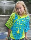 Jardin Hip Shawl Crochet Pattern/Ebook PDF Sizes Kids to Adult