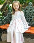 Magnolia Lace Coat Pattern Crochet Sz 2-12 Easter