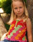 Floral Fiesta Tank Top Sizes 2-12 Crochet Pattern eBook PDF