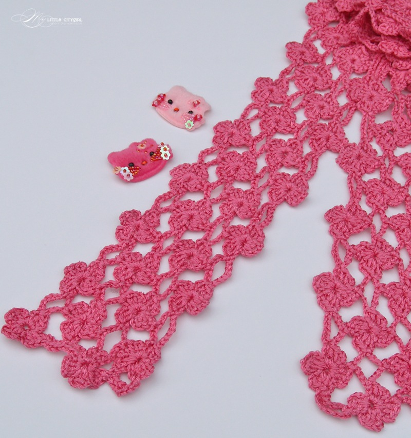 Pineapple Crochet Scarf Free Pattern for Kids & Adults  My Little  Crochet Scarf Free Patterns Beginners