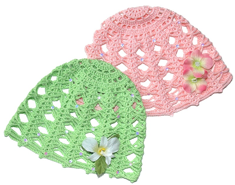 Vintage Rose. Crochet Cap Free Pattern for Kids & Women ...