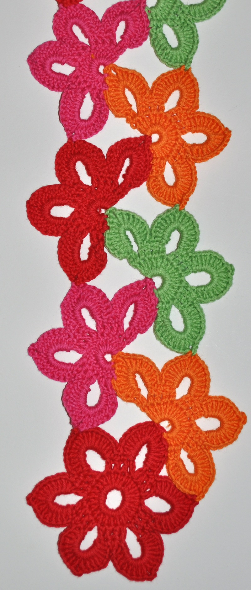 Floral Fiesta Crochet Scarf Pattern for Kids & Women  My Little  Crochet Scarves For Kids Patterns