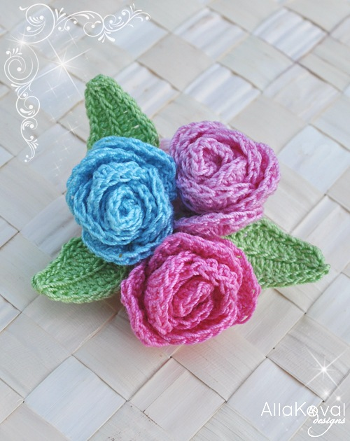 Crochet Stitches Rose : RosePin copy