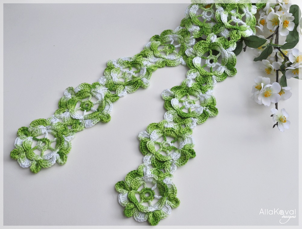 Spring Fling Crochet Scarf Pattern For Kids My Little Citygirl