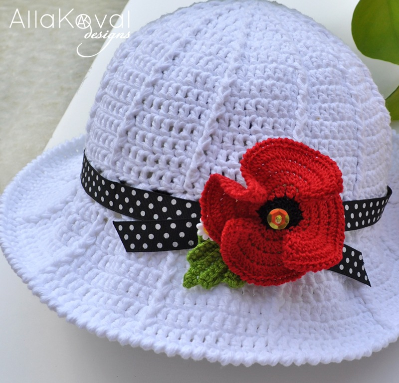 Garden Party Crochet Hat Free Pattern For Kids Adult My Little