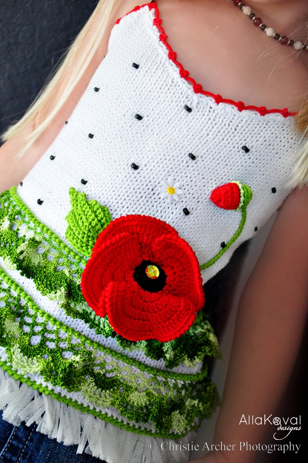 Poppy Hand Knit Tank Top With Crochet Details Pattern For Kids My