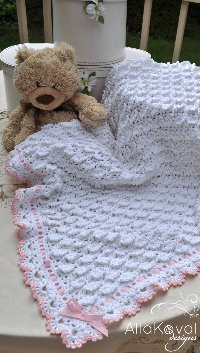 Crochet Patterns Baby Blanket : Easy Crochet Baby Blanket Pattern - Antique Crochet Patterns