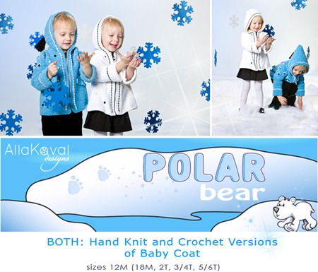 Polar Bear Both Knit Crochet Logo
