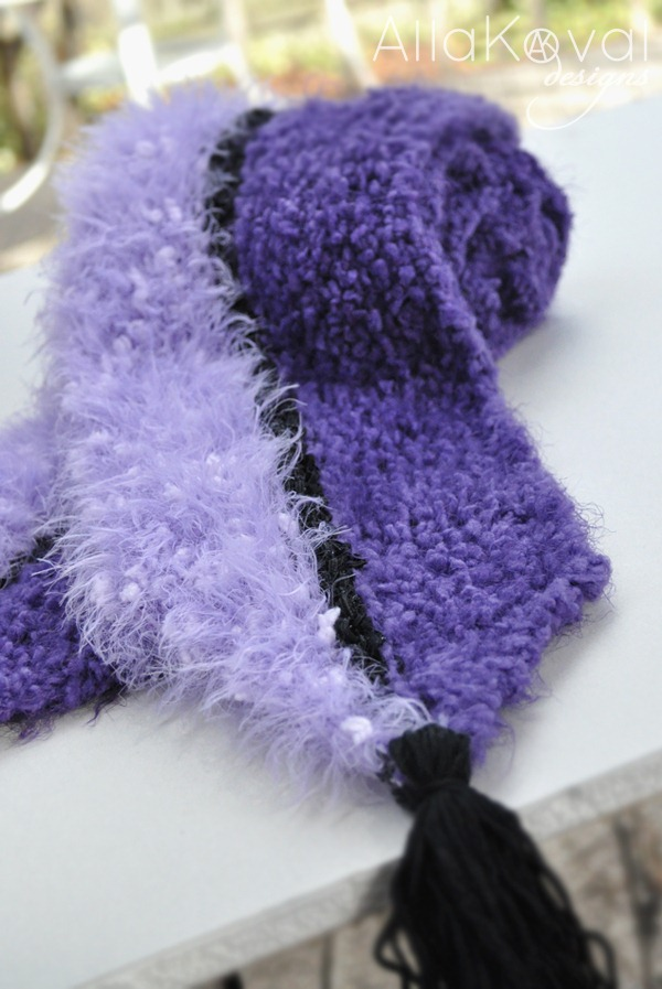 Purple Mood purple mood. free scarf pattern for kids and women. my first