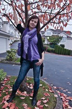 Purple Mood Scarf A2