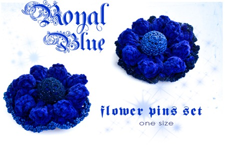 Royal Blue Fllower Pins Logo