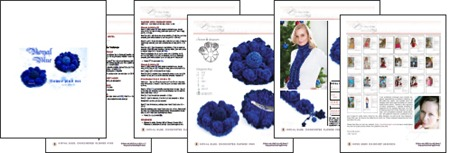 Royal Blue Flower Pins Pages