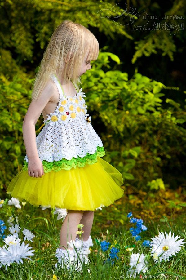 Daisy Crochet Halter Top Pattern For Kids My Little Citygirl