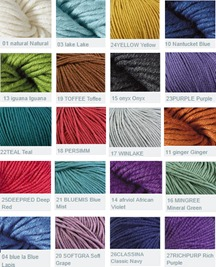 Valley Yarns Southwick Color Card