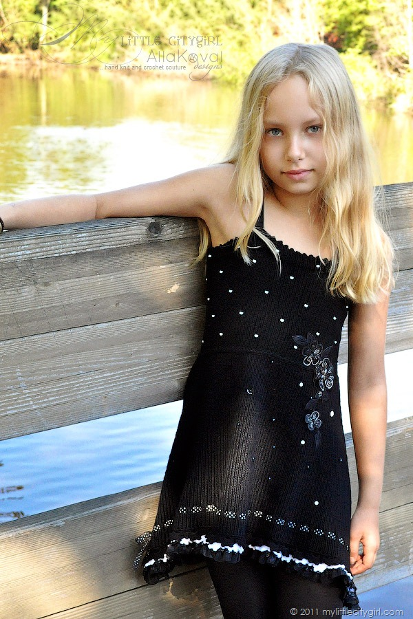 Faerie Dreams Hand Knitted Dress Pattern For Kids 2 12