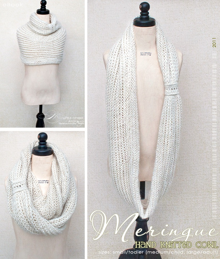 Meringue Hand Knitted Cowl Free Pattern For Kids And Adult My