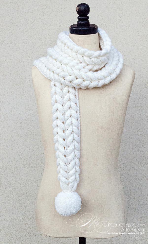 Азиатский колосок схема вязания шарф