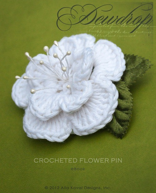 Dewdrop Flower Pin Logo
