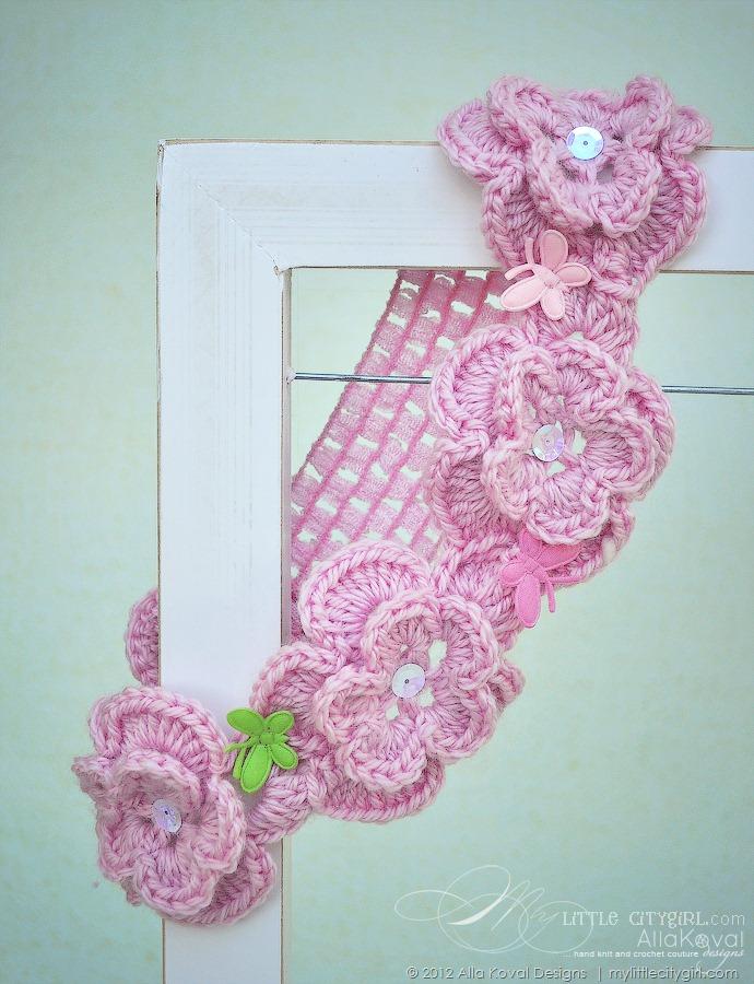 Butterfly Memories. Crocheted Scarf, Headband & Beyond ...