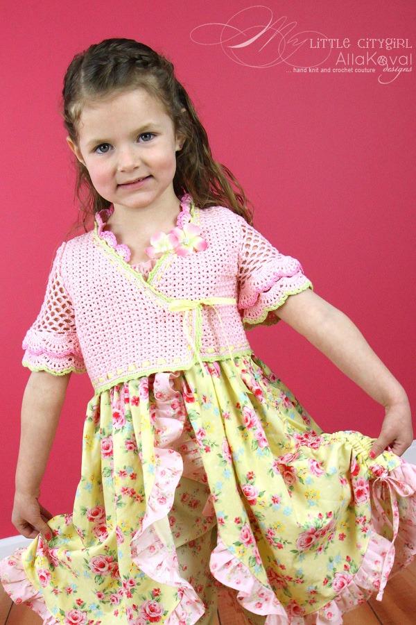 Sunlit Rose Crocheted Bolero Pattern For Kids Sizes 2 12 My
