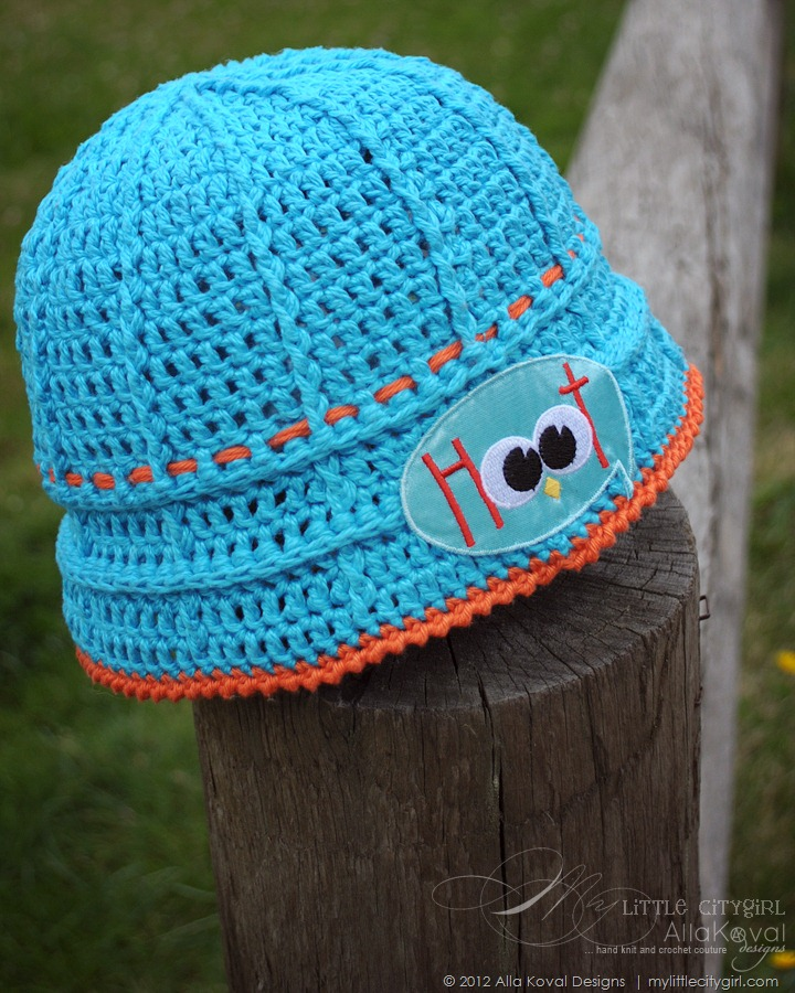 Free Crochet Patterns Little Girl Hats : Give a Hoot. Crocheted Hat Free pattern for Kids and Adult ...