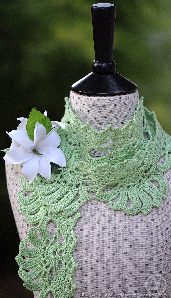 Gardenia Crocheted Scarf Pattern For Kids And Adult My Little