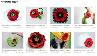 Crocheted Poppy