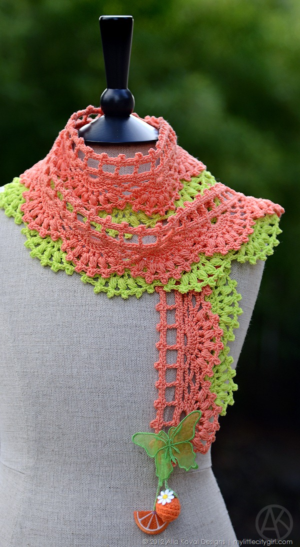 Tutti Frutti Eap Crocheted Shawl Scarf Pattern For Kids And