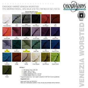 Cascade Venezia Color Card WorstedW