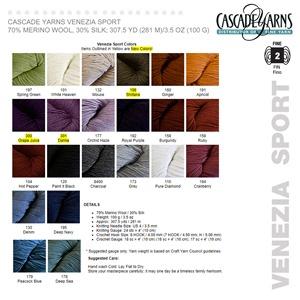 Cascade Venezia Color CardW